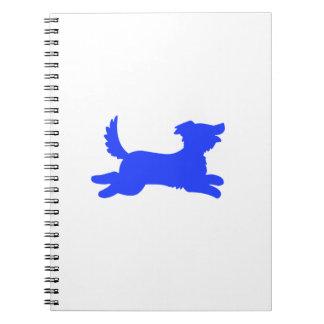 Blue Dog Spiral Notebook