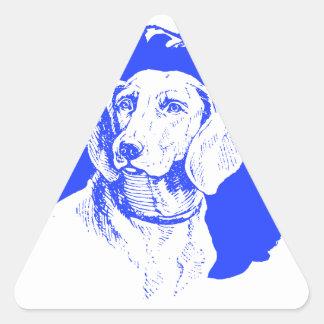Blue Dog Triangle Sticker