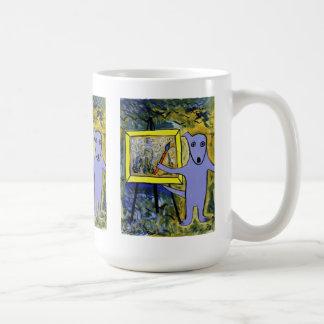 Blue Dog Van Gogh / Elizabeth Mukerji Classic White Coffee Mug