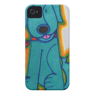 Blue dog with heart. Case-Mate iPhone 4 case