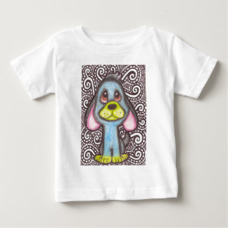 Blue Dog with Yellow Nose and Feet Baby T-Shirt
