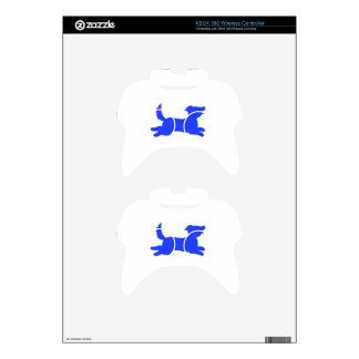 Blue Dog Xbox 360 Controller Skin