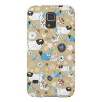 Blue Doggie Pattern Case For Galaxy S5