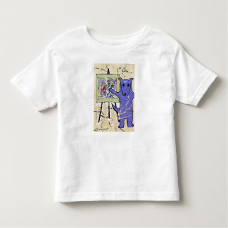 """Blue Dogs as Artists"" Series by Artist Elizabeth Toddler T-shirt"