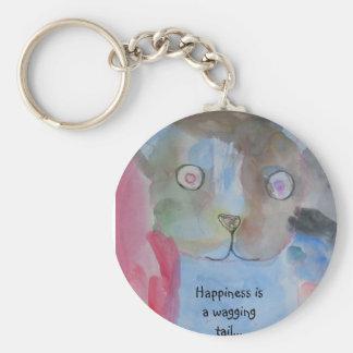 Blue Dogs Basic Round Button Keychain