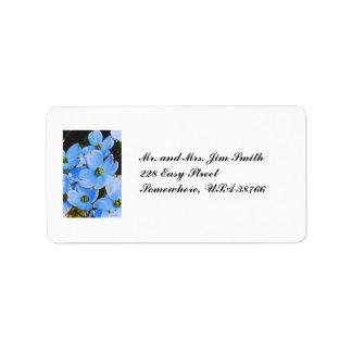 Blue Dogwood Address Label