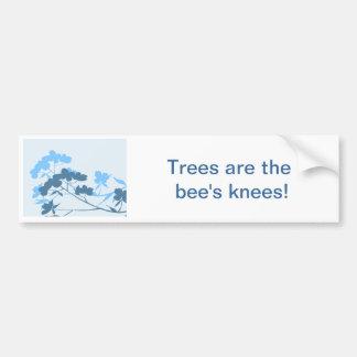 Blue Dogwood Blossom floral design bumper sticker