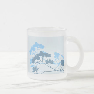 Blue Dogwood Blossom floral design mugs