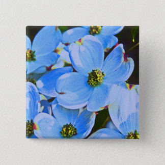 Blue Dogwood Button