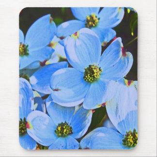 Blue Dogwood Mouse Pad