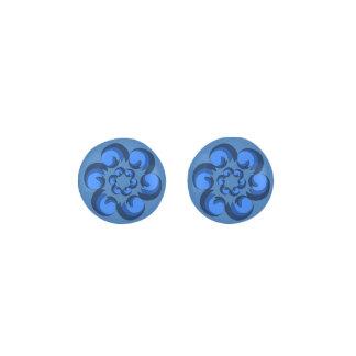 Blue Dollops Earrings