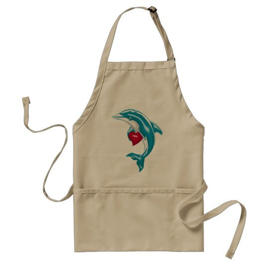 Blue Dolphin Adult Apron