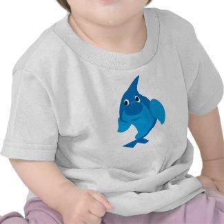 Blue Dolphin Baby T-shirt shirt