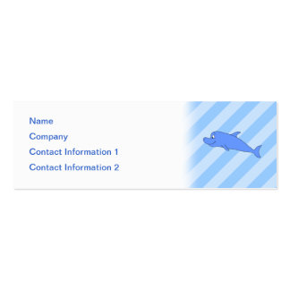 Blue Dolphin. Double-Sided Mini Business Cards (Pack Of 20)
