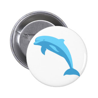 Blue Dolphin Pinback Buttons