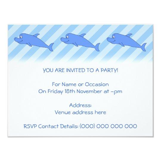 Blue Dolphin. Card
