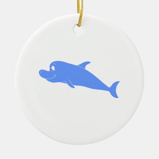 Blue Dolphin. Christmas Tree Ornament