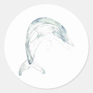 Blue Dolphin Classic Round Sticker