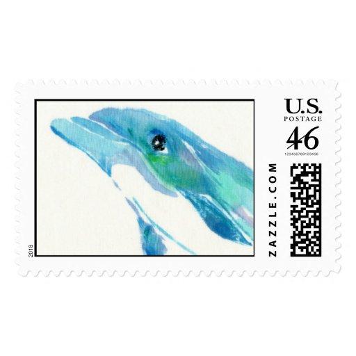 Blue Dolphin Custom Postage Stamp
