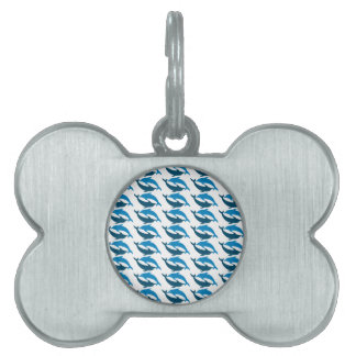 Blue Dolphin Duet Pet Name Tags