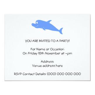 Blue Dolphin. 4.25x5.5 Paper Invitation Card
