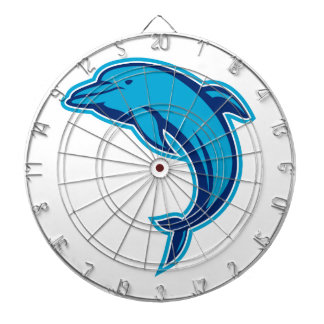 Blue Dolphin Jumping Retro Dart Board