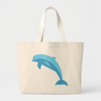 Blue Dolphin Large Tote Bag