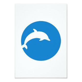 Blue dolphin moon card