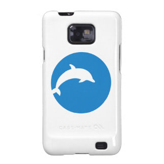 Blue dolphin moon galaxy s2 cover