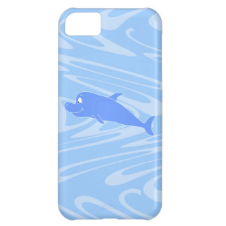 Blue Dolphin on Wavy Pattern iPhone 5C Cover