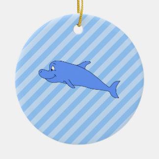 Blue Dolphin Christmas Ornament