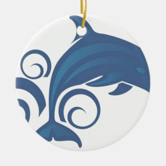 Blue dolphin ornaments