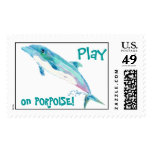 Blue Dolphin Postage Stamp