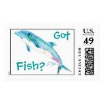 Blue Dolphin Postage Stamp Got Fish?