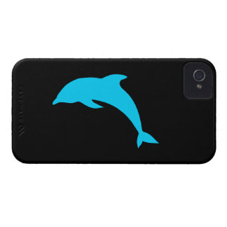 Blue Dolphin Silhouette Case-Mate iPhone 4 Case