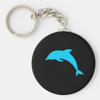 Blue Dolphin Silhouette Keychains