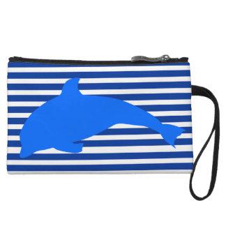 Blue Dolphin Wristlet Wallet