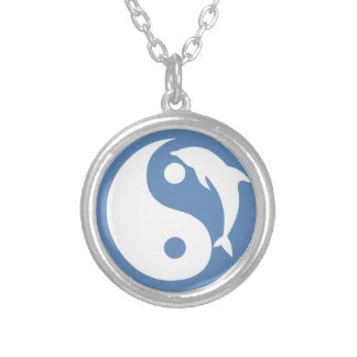 Blue Dolphin Yin Yang Necklace