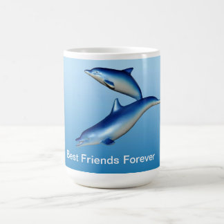 Blue Dolphins Best Friends Forever Coffee Mug