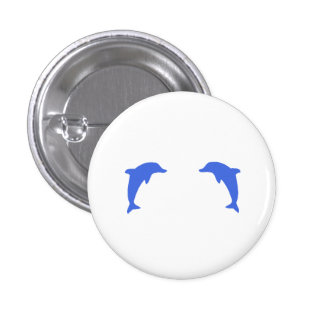 Blue Dolphins Pinback Button