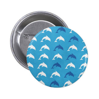 Blue dolphins button