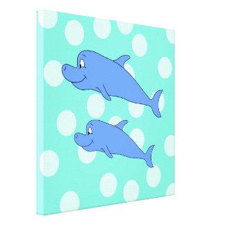 Blue Dolphins Canvas Prints