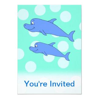 Blue Dolphins. Card
