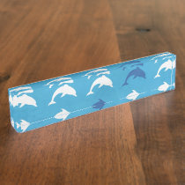 Blue dolphins desk name plate