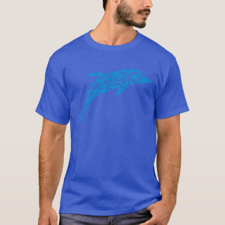 Blue dolphins forming a cute dolphin shape, T-Shirt