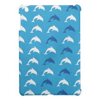 Blue dolphins iPad mini case