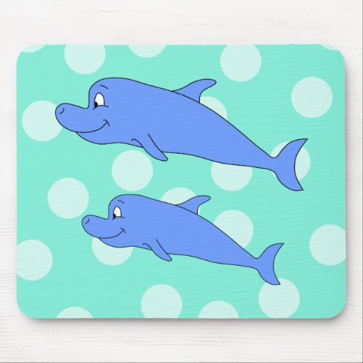 Blue Dolphins. Mouse Pad