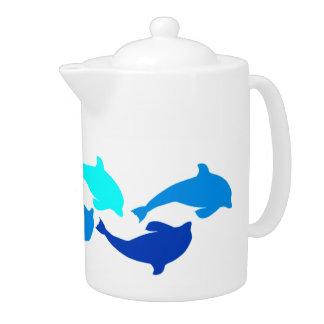 Blue Dolphins Teapot