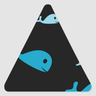 Blue dolphins triangle sticker