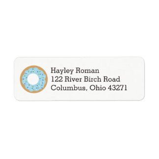 Blue Donut Baby Sprinkle Address Label